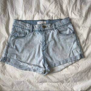 light blue Garage women's jean shorts